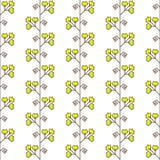 Άνευ ραφής σχέδιο με το γεωμετρικό floral στοιχείο Στοκ φωτογραφία με δικαίωμα ελεύθερης χρήσης