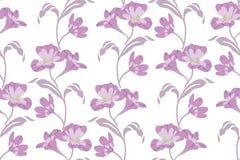 Άνευ ραφής σχέδιο με το διάνυσμα λουλουδιών Στοκ Φωτογραφία