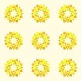 Άνευ ραφής σχέδιο με το κίτρινο mandala Διανυσματική απεικόνιση