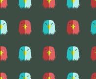 Άνευ ραφής σχέδιο με το κεφάλι αετών Στοκ φωτογραφίες με δικαίωμα ελεύθερης χρήσης