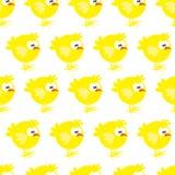 Άνευ ραφής σχέδιο με το κοτόπουλο στο άσπρο υπόβαθρο Απεικόνιση αποθεμάτων