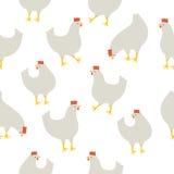 Άνευ ραφής σχέδιο με το κοτόπουλο Στοκ εικόνα με δικαίωμα ελεύθερης χρήσης
