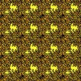 Άνευ ραφής σχέδιο με το λουλούδι χρυσάνθεμων ελεύθερη απεικόνιση δικαιώματος