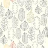 Άνευ ραφής σχέδιο με το υπόβαθρο φύλλων φθινοπώρου Στοκ Εικόνες