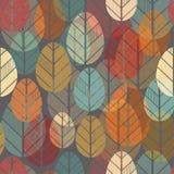 Άνευ ραφής σχέδιο με το φύλλο, υπόβαθρο φύλλων φθινοπώρου Στοκ Εικόνες