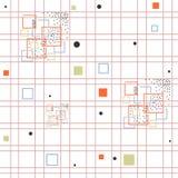άνευ ραφής σχέδιο με το χρωματισμένο τετράγωνο Στοκ Εικόνα
