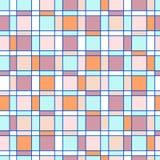 άνευ ραφής σχέδιο με το χρωματισμένο τετράγωνο Στοκ φωτογραφία με δικαίωμα ελεύθερης χρήσης