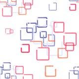 άνευ ραφής σχέδιο με το χρωματισμένο τετράγωνο Στοκ εικόνες με δικαίωμα ελεύθερης χρήσης