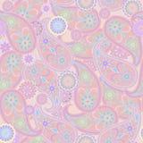 Άνευ ραφής σχέδιο με το Paisley και τα λουλούδια Στοκ φωτογραφία με δικαίωμα ελεύθερης χρήσης