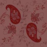 Άνευ ραφής σχέδιο με το Paisley και τα τριαντάφυλλα Στοκ φωτογραφία με δικαίωμα ελεύθερης χρήσης