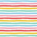 Άνευ ραφής σχέδιο με χρωματισμένα τα χέρι κτυπήματα βουρτσών Στοκ φωτογραφία με δικαίωμα ελεύθερης χρήσης