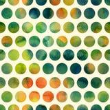 Άνευ ραφής σχέδιο με χρωματισμένα τα χέρι σημεία Πόλκα Στοκ εικόνα με δικαίωμα ελεύθερης χρήσης