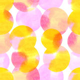 Άνευ ραφής σχέδιο με χρωματισμένα τα watercolor στοιχεία Στοκ εικόνες με δικαίωμα ελεύθερης χρήσης