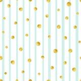 Άνευ ραφής σχέδιο με χρωματισμένους τους χέρι χρυσούς κύκλους Χρυσό σχέδιο σημείων Πόλκα απεικόνιση αποθεμάτων