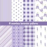 Άνευ ραφής σχέδιο με lavender Στοκ Φωτογραφία