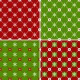 Άνευ ραφής σχέδιο με snowflakes. Διανυσματικό σύνολο. Στοκ φωτογραφίες με δικαίωμα ελεύθερης χρήσης