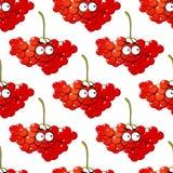 Άνευ ραφής σχέδιο μούρων κινούμενων σχεδίων κόκκινο Στοκ εικόνες με δικαίωμα ελεύθερης χρήσης