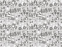 Άνευ ραφής σχέδιο μωρών doodle Στοκ Φωτογραφία