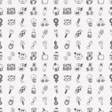 Άνευ ραφής σχέδιο μωρών doodle Στοκ εικόνα με δικαίωμα ελεύθερης χρήσης