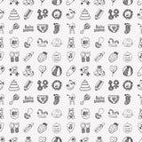 Άνευ ραφής σχέδιο μωρών doodle Στοκ Εικόνες