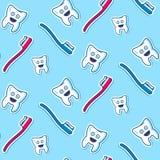 Άνευ ραφής σχέδιο δοντιών υγείας Στοκ φωτογραφία με δικαίωμα ελεύθερης χρήσης