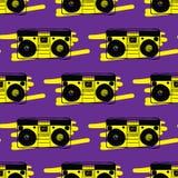 Άνευ ραφής σχέδιο οργάνων καταγραφής τύπων Στοκ Φωτογραφία