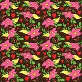 Άνευ ραφής σχέδιο λουλουδιών αγάπης απεικόνιση αποθεμάτων