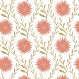 Άνευ ραφής σχέδιο λουλουδιών στο ύφος χώρας Διανυσματική απεικόνιση