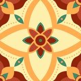 Άνευ ραφής σχέδιο λουλουδιών συμμετρίας για τα κεραμίδια Στοκ Εικόνα