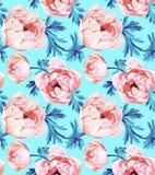 Άνευ ραφής σχέδιο λουλουδιών Anemone Στοκ φωτογραφία με δικαίωμα ελεύθερης χρήσης