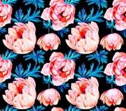 Άνευ ραφής σχέδιο λουλουδιών Anemone ελεύθερη απεικόνιση δικαιώματος