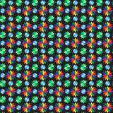 Άνευ ραφής σχέδιο λουλουδιών Geomatric Στοκ φωτογραφία με δικαίωμα ελεύθερης χρήσης