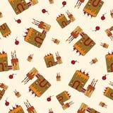 Άνευ ραφής σχέδιο, πίτα Στοκ φωτογραφίες με δικαίωμα ελεύθερης χρήσης