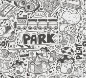 Άνευ ραφής σχέδιο παιδικών χαρών doodle Στοκ Εικόνες