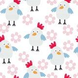 Άνευ ραφής σχέδιο παιδιών με τα κοτόπουλα επίσης corel σύρετε το διάνυσμα απεικόνισης διανυσματική απεικόνιση