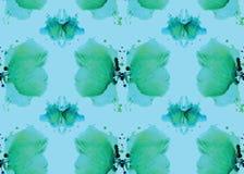 Άνευ ραφής σχέδιο, που αποτελείται από ένα τροποποιημένο τμήμα λεκέδων watercolor Στοκ φωτογραφία με δικαίωμα ελεύθερης χρήσης