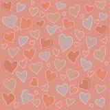 Άνευ ραφής σχέδιο: πολλές αφηρημένες καρδιές Απεικόνιση αποθεμάτων