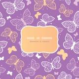 Άνευ ραφής σχέδιο πλαισίων πεταλούδων νύχτας Στοκ Εικόνες