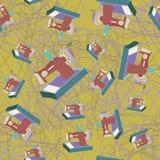 Άνευ ραφής σχέδιο ράβοντας μηχανών Στοκ Εικόνα