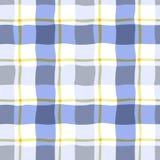 Άνευ ραφής σχέδιο σε ένα κλουβί στο μπλε χρώμα Στοκ εικόνες με δικαίωμα ελεύθερης χρήσης