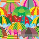 Άνευ ραφής σχέδιο σελίδων ομπρελών πλήρες διανυσματική απεικόνιση