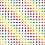 Άνευ ραφής σχέδιο σημείων Πόλκα στα εκλεκτής ποιότητας χρώματα Στοκ φωτογραφία με δικαίωμα ελεύθερης χρήσης