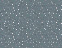 Άνευ ραφής σχέδιο σημείων Πόλκα στο σκοτεινό γκρίζο υπόβαθρο απεικόνιση αποθεμάτων