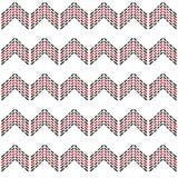 Άνευ ραφής σχέδιο σιριτιών τρεκλίσματος με τη μαύρη και κόκκινη γραμμή εξόρμησης διανυσματική απεικόνιση
