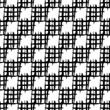 Άνευ ραφής σχέδιο σκακιού Χρωματισμένα χέρι τετράγωνα με τις τραχιές άκρες Στοκ Φωτογραφία