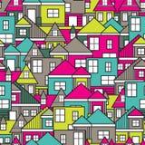 Άνευ ραφής σχέδιο σπιτιών Στοκ φωτογραφίες με δικαίωμα ελεύθερης χρήσης
