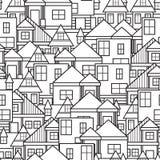 Άνευ ραφής σχέδιο σπιτιών Στοκ Φωτογραφίες