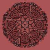 Άνευ ραφής σχέδιο στοιχείων Συρμένο χέρι mandala λουλουδιών εθνική διακόσμηση Στοκ Εικόνες