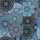 Άνευ ραφής σχέδιο στο ασιατικό ύφος Αστρικό υπόβαθρο mandalas για το μπροστινός-δευτερεύοντος ή τυλίγματος έγγραφο καρτών, Ινδικά Στοκ Φωτογραφία