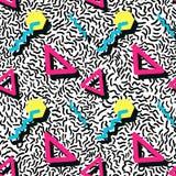 Άνευ ραφής σχέδιο στο ύφος της Μέμφιδας Στοκ φωτογραφία με δικαίωμα ελεύθερης χρήσης